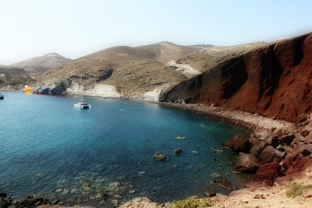 Red beach di Santorini