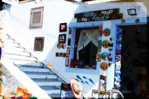 Tipico negozio a Santorini
