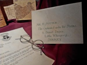 Lettera Harry Potter Studios Londra