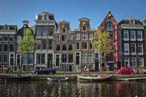 Particolare delle case Amsterdam