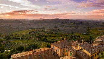 Panorama dall'alto di Montepulciano