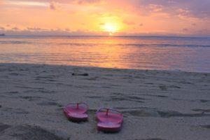 Tramonto spiaggia di Mauritius