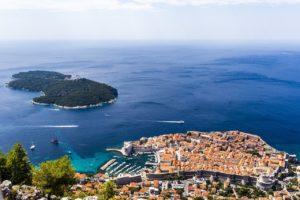 Panorama isola Lokrum Dubrovnik
