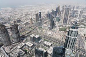 Panorama dal Burj Khalifa Dubai
