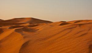 Sabbia del deserto a Dubai